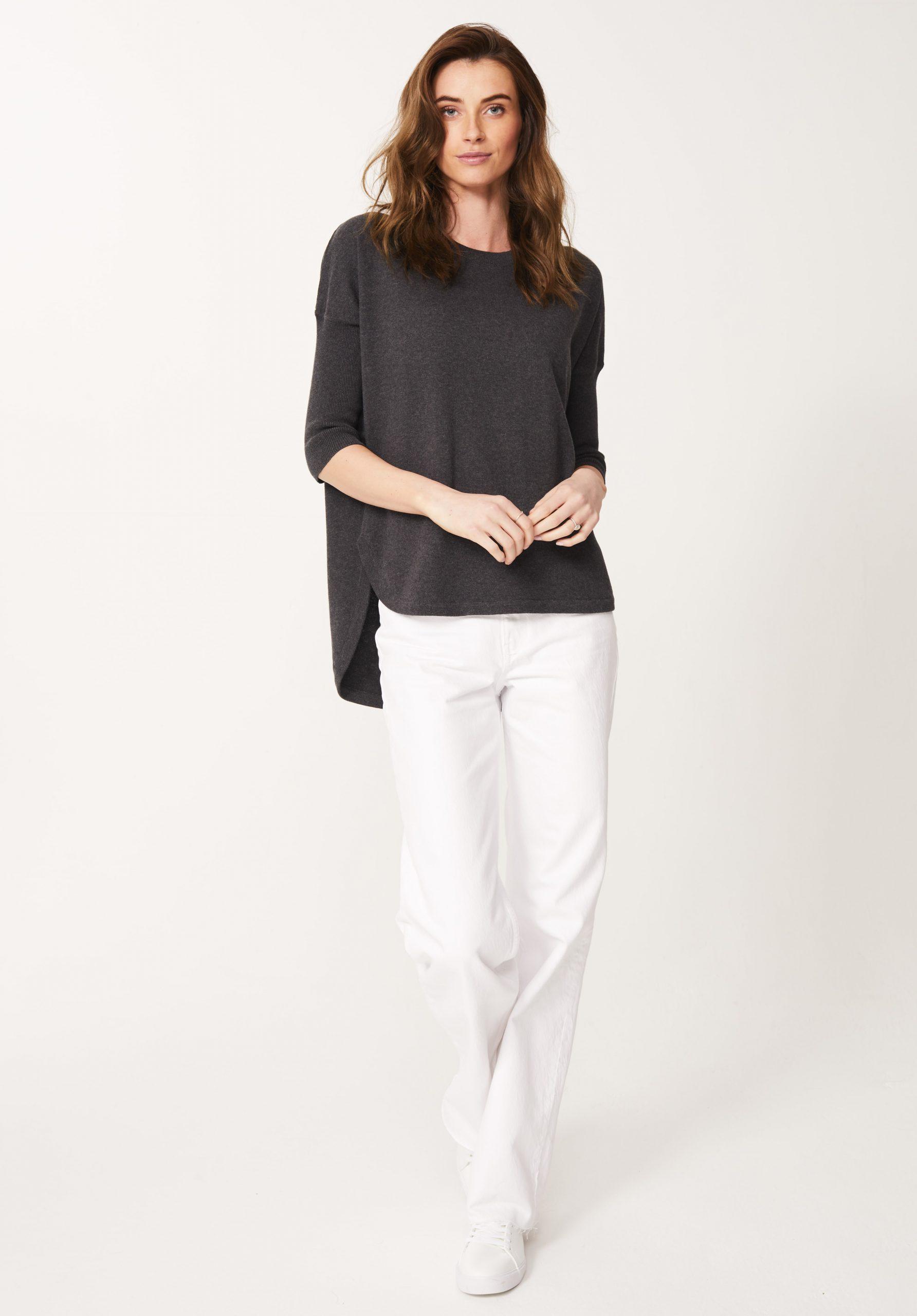 Cotton Tunic in Graphite Marl
