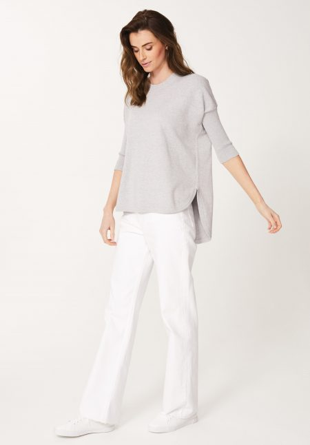 Cotton Tunic in Silver Marl