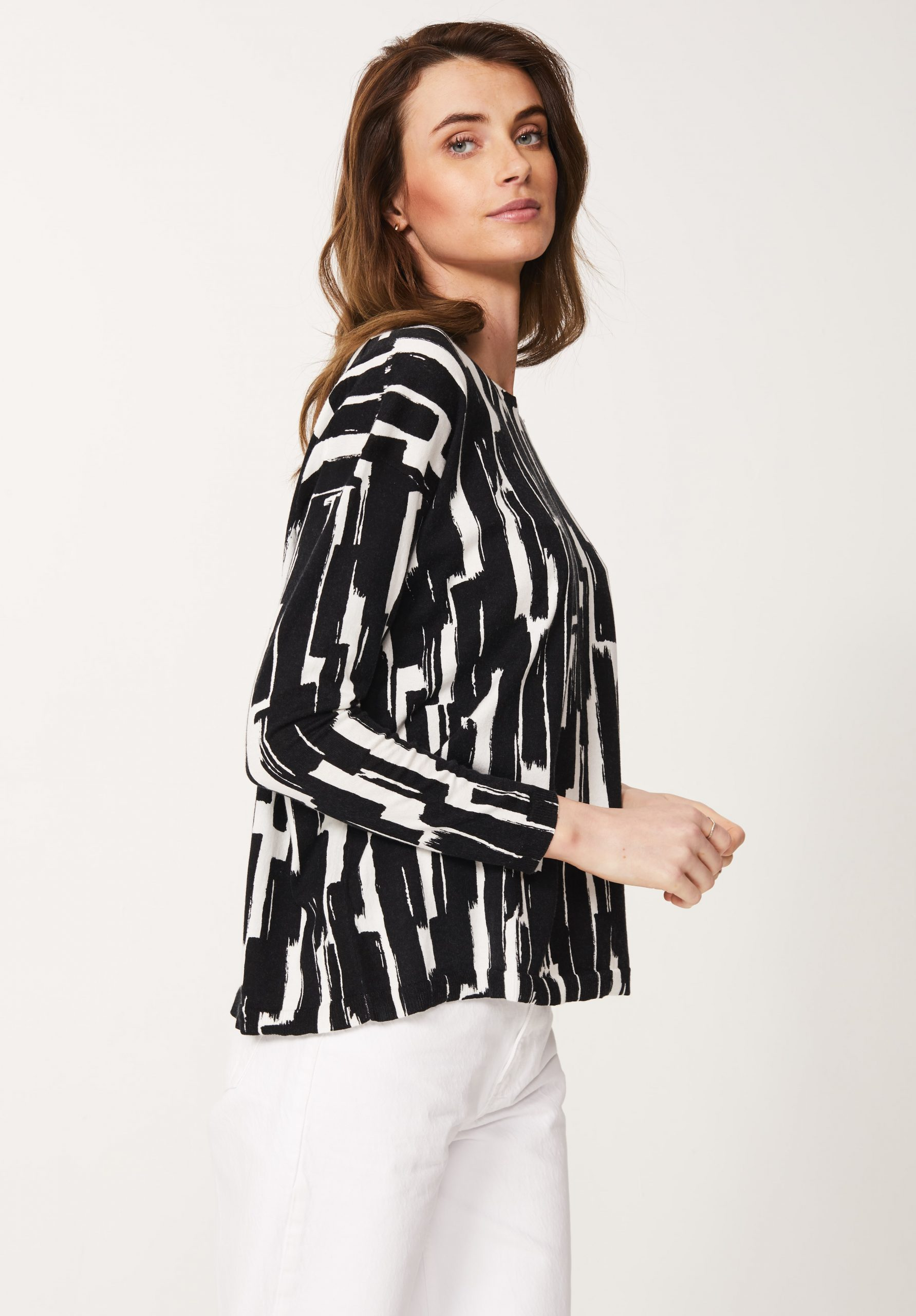 Cotton / Cashmere Print Top